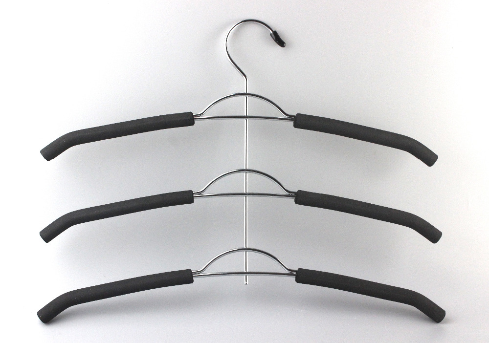 Multi layer clothes hanger  Storage and sorting racks creative three layers non slip clothes hanger display rack Coat Racks