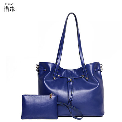Women Shoulder bags pu Leather tote Bag female luxury fashion handbag High Quality Large capacity bolsa feminina 2017 new blue