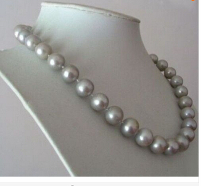 Здесь можно купить  WHOLESALE 10-11MM AAA SOUTH SEA GRAY PEARL NECKLACE 17 INCH  Factory Wholesale price Women Gift word Jewelry  Ювелирные изделия и часы