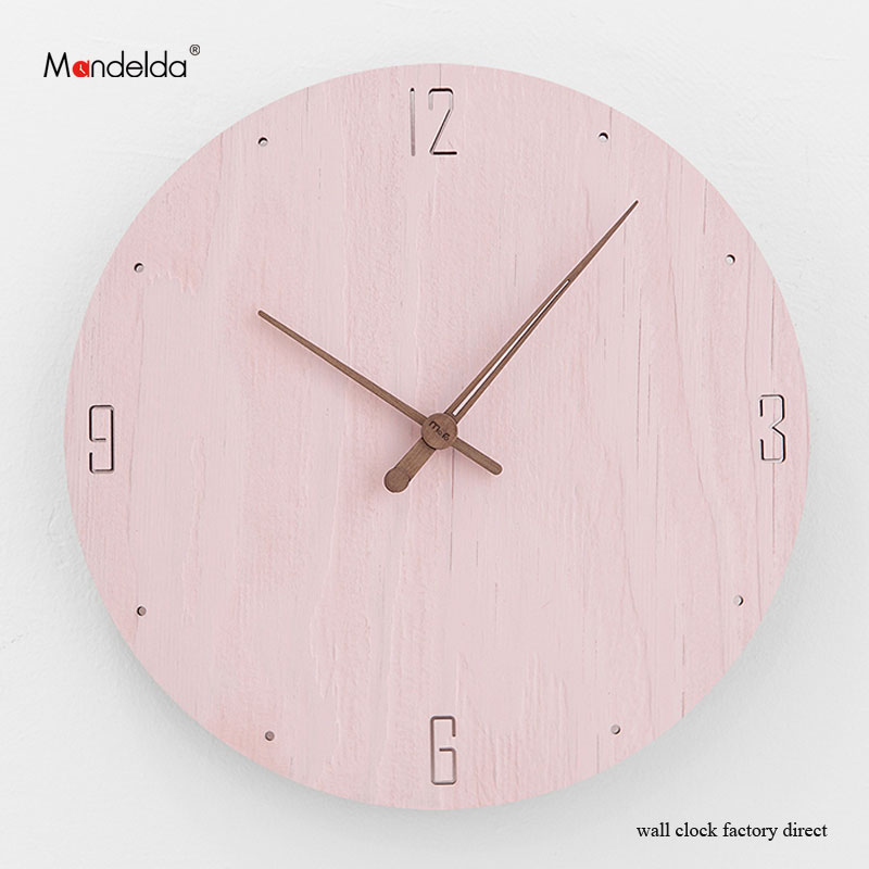 Wholesale Home Watch Decorative 12 inch Wooden Silent Waterproof Retro Rustic Luxury Art Handmade Wall Clock in Living Room in Wall Clocks from Home Garden