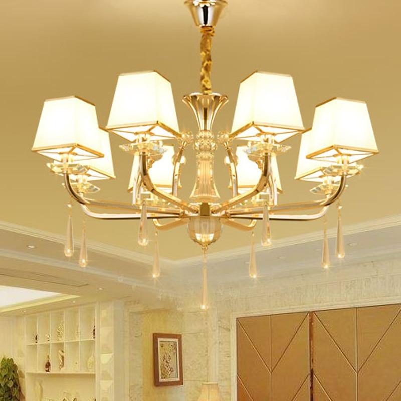 Modern LED Gold Crystal Chandeliers lustres de cristal Living room Dining room lampadario led candelabros decorativos