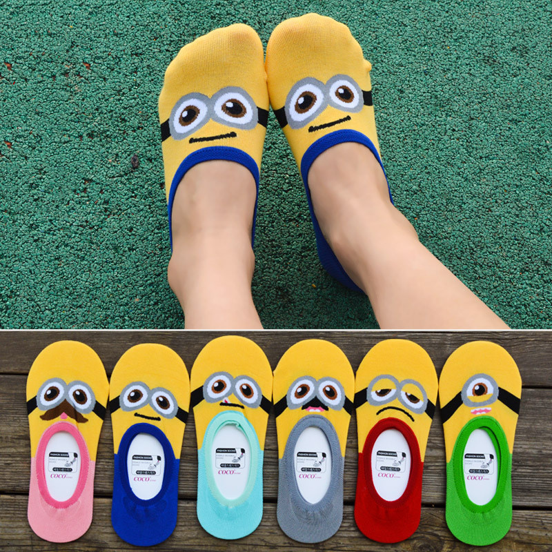 Summer fashion cotton cartoon thin section cool animal ladies boat   socks   cute kawaii girls   socks   women's casual funny   socks   new