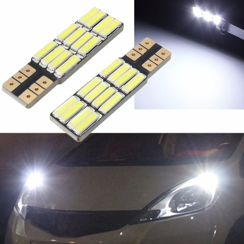 T10 1.7W 360LM 12SMD 7020 168 194 2825 White 6000K Auto Car LED Lights LED Light Bulb License Number Plate Lamp Bulb DC12V itimo 10x t10 194 168 w5w 360 degree