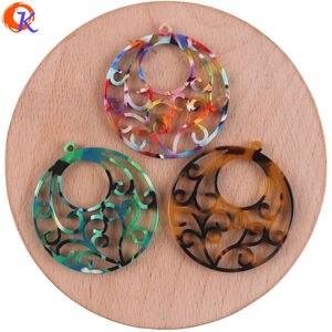 Image 2 - Design cordial 50 pçs 38x41mm fabricação de jóias/feito à mão/peças diy/forma de flor redonda/brinco acessórios/brinco descobertas
