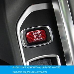 Image 1 - Car Engine Start Button Carbon Fiber Sticker Cover Stop Swtich Key Decor Car Styling For Volvo V40 V60 S60 XC60 S80 V50 V70 XC70