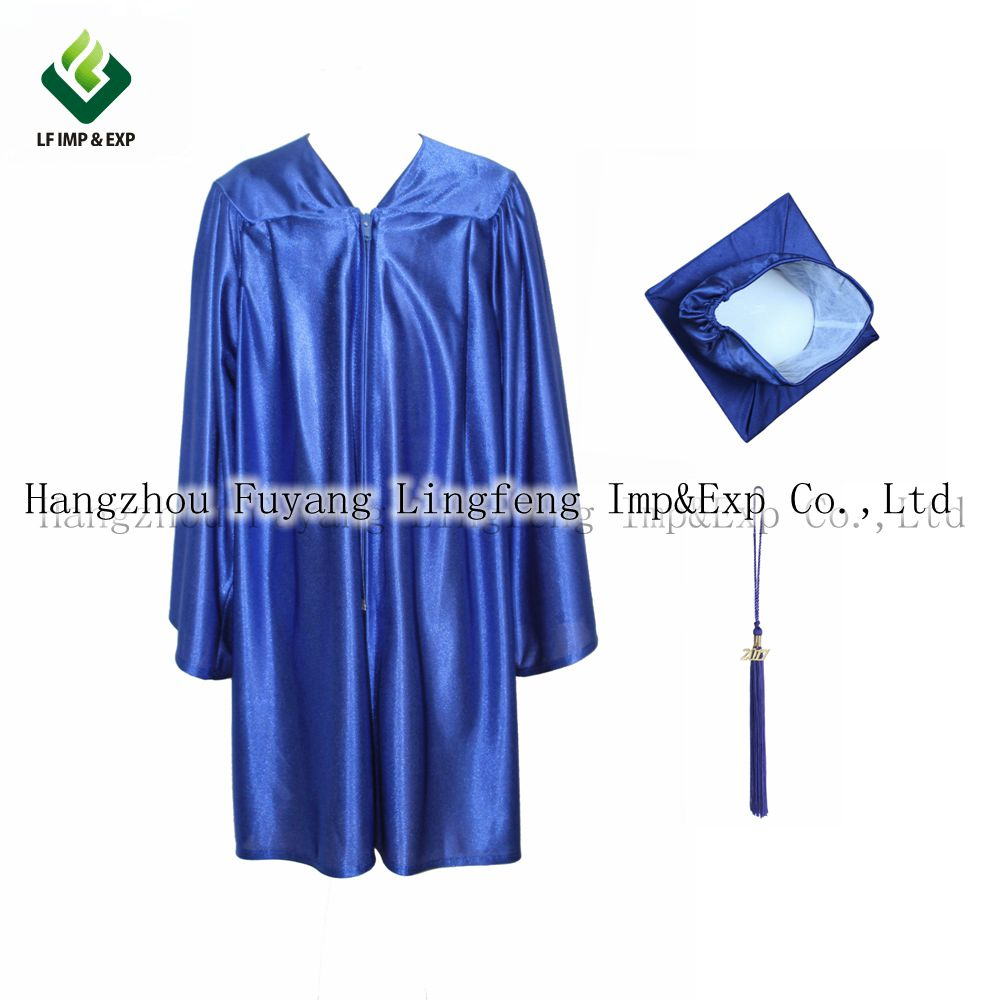 2017 Shiny Kindergarten Graduation Gowns Cap With Tassel Economy ...
