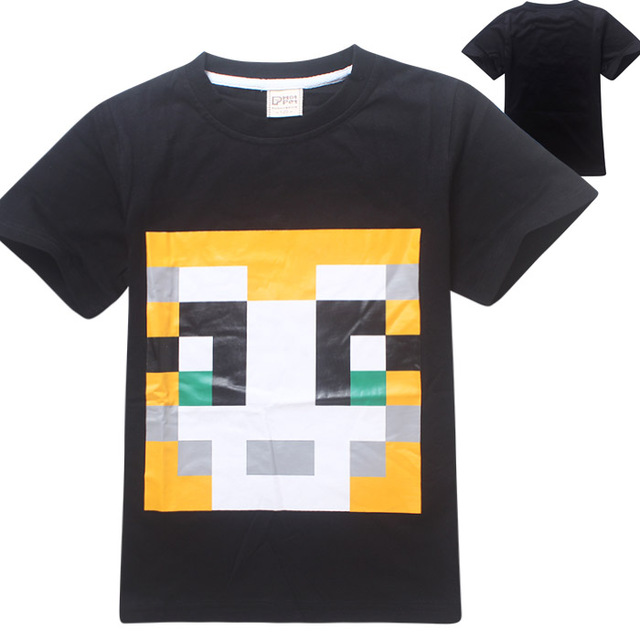 Minecraft T Shirt Stampy Long Nose Boys Clothes Graphic Tees 100 Cotton Short Sleeve