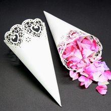 10 шт. Свадебные украшения Цветочные конусы Лазерная вырез