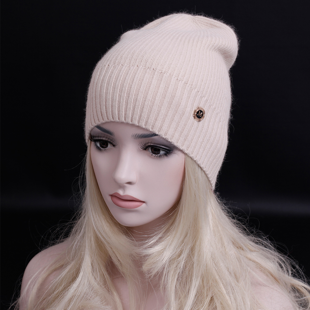 Fashion Street style   Skullies     Beanies   Women Hat wool Knit Hat Female Cap Man Winter Hat For Women wool   Beanie   Unisex Pure Color