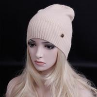 Fashion Street Style Skullies Beanies Women Hat Wool Knit Hat Female Cap Man Winter Hat For