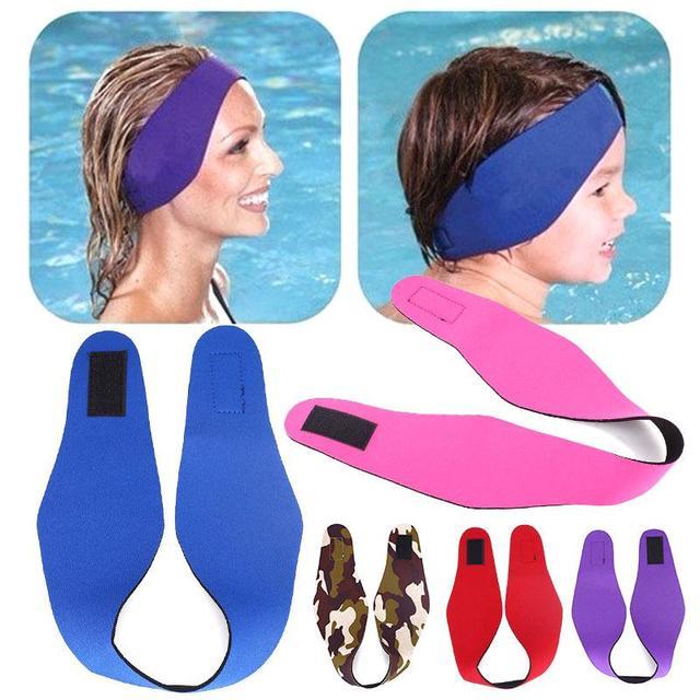 Adjule Women Men Bathing Swimming Ear Band Headband Protector Sport Kids Water Swim Head