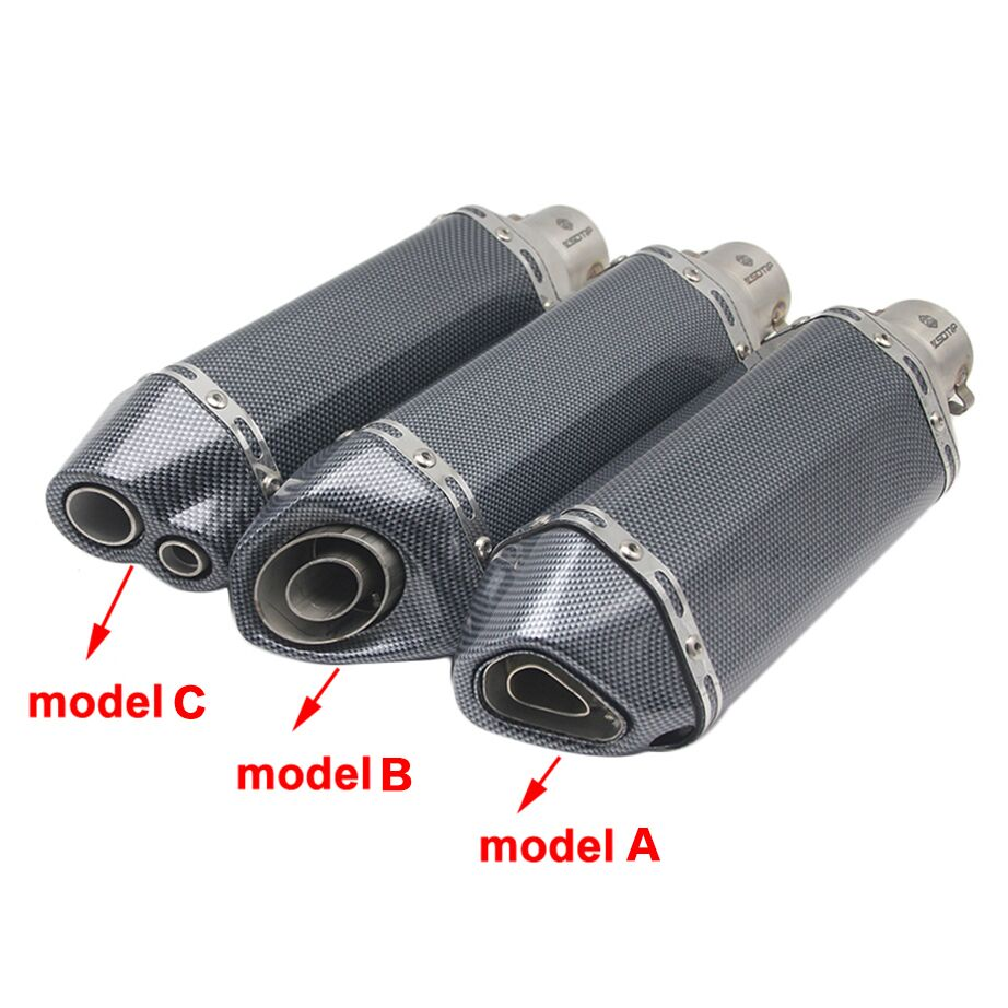 Image 2 - ZSDTRP Universal Motorcycle Akrapovic Exhaust Modify Motocross Exhaust Muffler For FZ6 CBR250 CB600 MT07 ATV Dirt Pit Bike-in Exhaust & Exhaust Systems from Automobiles & Motorcycles