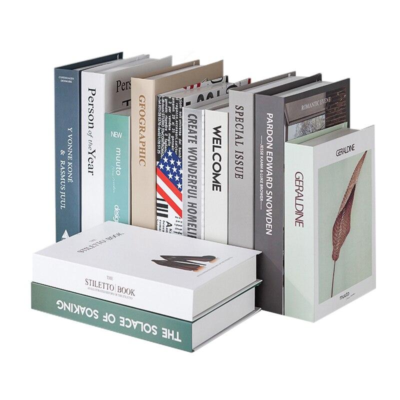 books:  Modern Simulation Books Creative Decoration False Book Exquisite Home Figurines Livingroom Wine Cabinet Bookshelf Ornament Craft - Martin's & Co