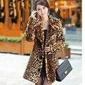 Chaleco Pelo Новый Зима Женщины Искусственного Меха Пальто Толстый Теплый Леопарда Пальто и Куртки Женщины Меха Куртка манто femme hiver