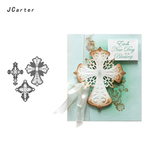 JC 2019 New Arrival Decoration Lace Cross Metal Cutting Dies for Scrapbooking DIY Embossing Folder Paper Handmade Album Stencils