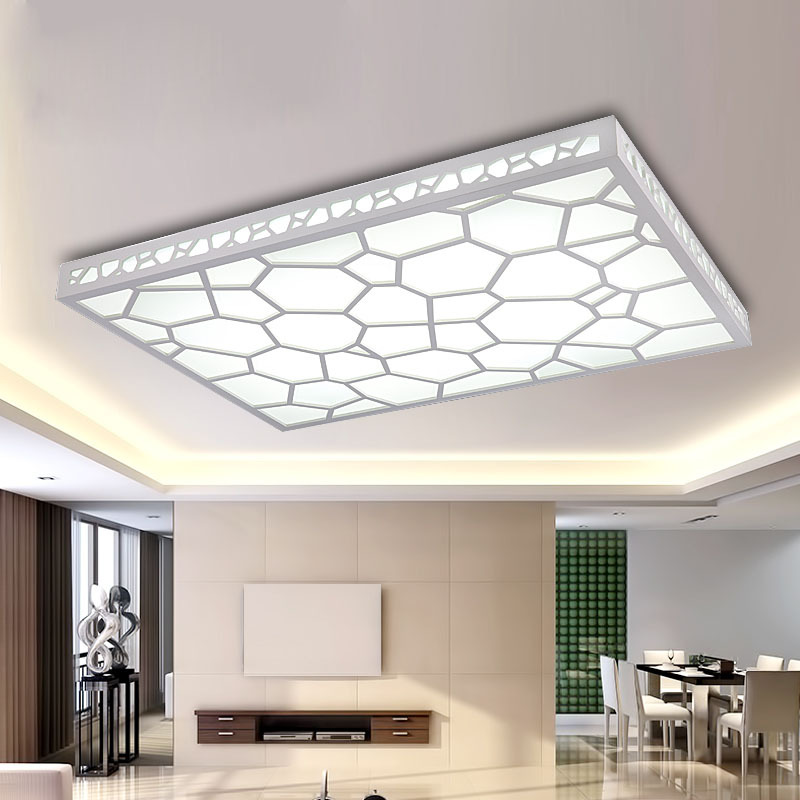 Light Filled Contemporary Living Rooms: 12w Led Living Room Lights Rectangle Brief Modern Ceiling