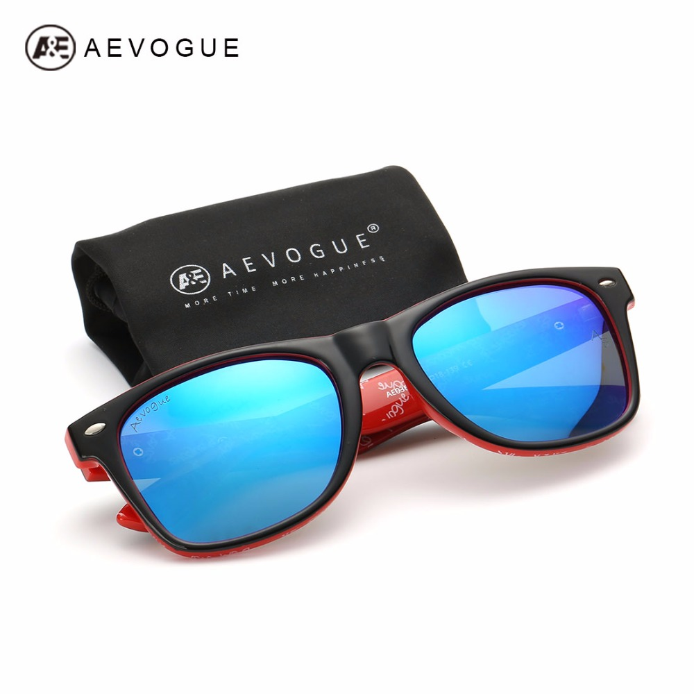 AEVOGUE Polarized Sunglasses Men Thick Acetate Frame Polaroid Lens Summer Style Brand Design Sun Glasses CE