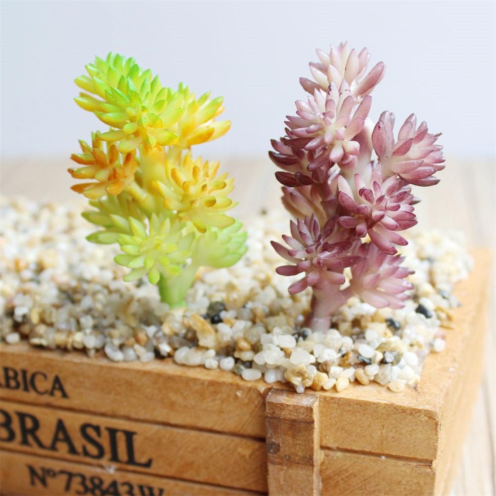 Artificial Flowers Succulents Craft Floristry Decor Plastic Plants Grass Artificial Plants Fake Flower Christmas Decorations