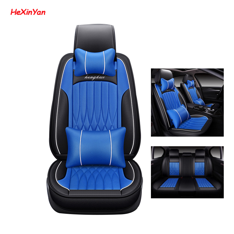 HeXinYan Universal Leather Car Seat Covers for Toyota all model mark auris prius camry rav4 corolla