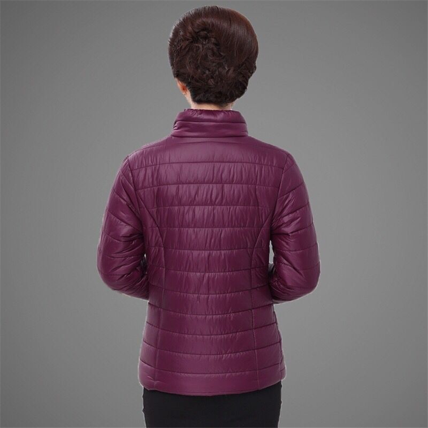 Plus size 4XL 5XL ultra light down Cotton jacket women 2018 Fashion streetwear baseball jacket winter casual Windproof outerwear 1