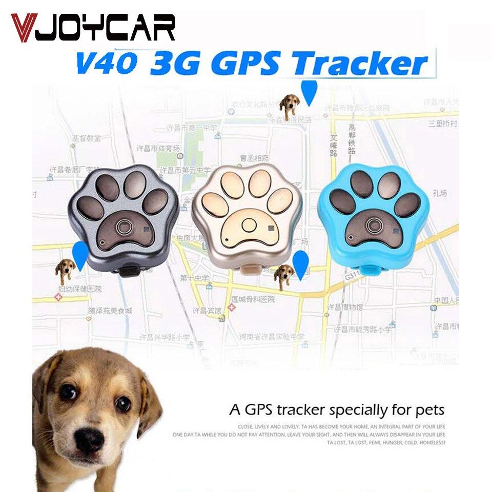WCDMA 3G chien de compagnie GPS Tracker V40 Mini GSM WIFI Global localisation des animaux localisateur dispositif de suivi logiciel de suivi gratuit APP
