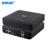 Smar Newest Mini 4CH POE NVR 48V 1080P HDMI Full HD Network Video Recorder CCTV System