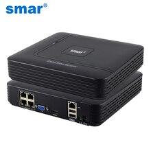 Smar новые мини 4CH POE NVR 48 В 1080P HDMI полный сетевой HD видео Регистраторы CCTV Системы для POE Камера Главная Безопасность ONVIF P2P