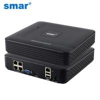 Smar Newest Mini 4CH POE NVR 48V 1080P HDMI Full HD Network Video Recorder CCTV System