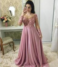 все цены на Lace Mother Of The Bride Dresses With Long Sleeve Sheer Jewel Neck Weddings Chiffon Beaded Plus Evening gown vestido de madrinha