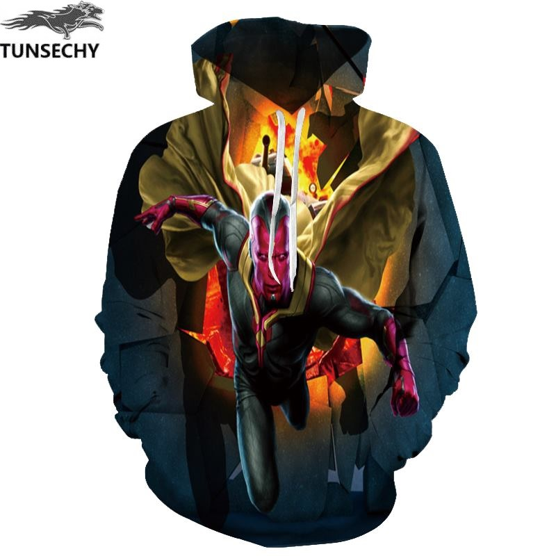 TUNSECHY Brand Hoodies Men Women 3D Digital printing Hooded Pullover Novelty Anime Hoodie Sweatshirts Wholesale and retail