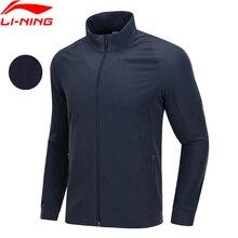 Li-Ning мужская тренировочная куртка, 3D облегающая, флисовая, теплая, 91% полиэстер, 9% спандекс, подкладка, спортивное пальто, AJDN165 COND18