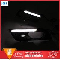 car styling 2012 2013 For Honda Civic LED DRL For Civic led fog lamps daytime running light High brightness guide LED DRL