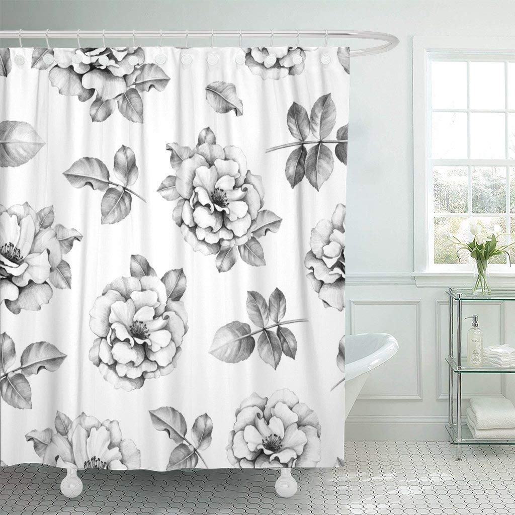 Shower Curtain With Hooks Vintage