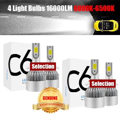 4 lamp bulbs 16000LM
