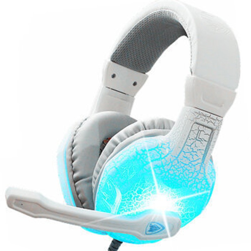 Computer Headband Headphones Stereo Surround Game Earphones Gaming Headset 3.5mm With Mic Volume Control LED Light For PC Game xiberia k9 usb surround stereo gaming headphone with microphone mic pc gamer led breath light headband game headset for lol cf
