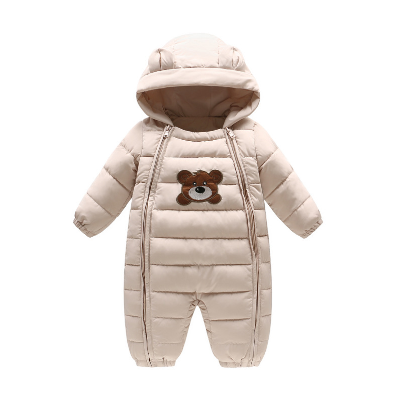 Mioigee Kids Hooded Climb winter infant clothing baby warm costume jumpsuit newborn baby Girl and Boys romper snowsuit Overalls puseky 2017 infant romper baby boys girls jumpsuit newborn bebe clothing hooded toddler baby clothes cute panda romper costumes