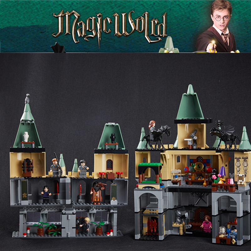 16029 Movie Series The Magic Hogwort Castle Model Harry Potter Building Blocks Bricks Educational Toys Lepin For Children 5378 new lepin 16008 cinderella princess castle city model building block kid educational toys for children gift compatible 71040