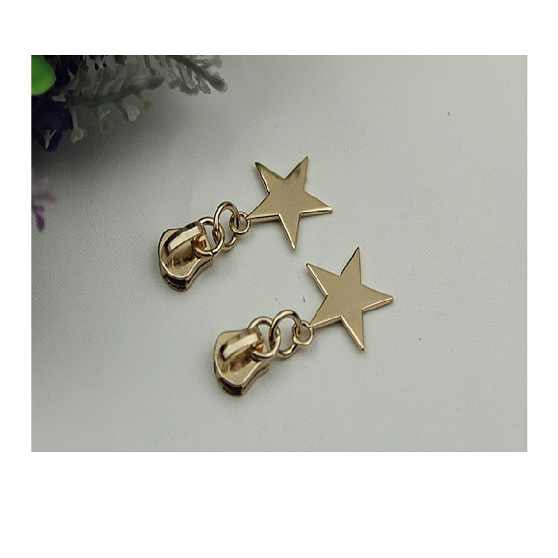 New Star 5# Lugguage Bag Shoes Clothing Mz Metal Zipper Slider Pull Parts Accessory 20pcs/lot Free Shipping Luggage & Bags
