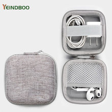 Earphone Holder Case Storage Carrying Hard Bag Box Case For Earphone Headphone Accessories Earbuds memory Card USB Cable Bag(China)