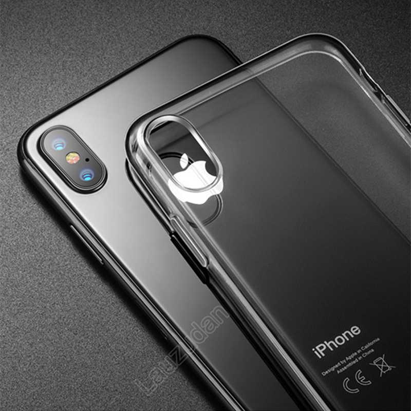 クリア電話ケース iphone 7 ケース iPhone XR シリコンソフトバックカバーケース iphone 11 プロ XS 最大 × 8 7 6 6s プラス 5 5S 、 SE ケース