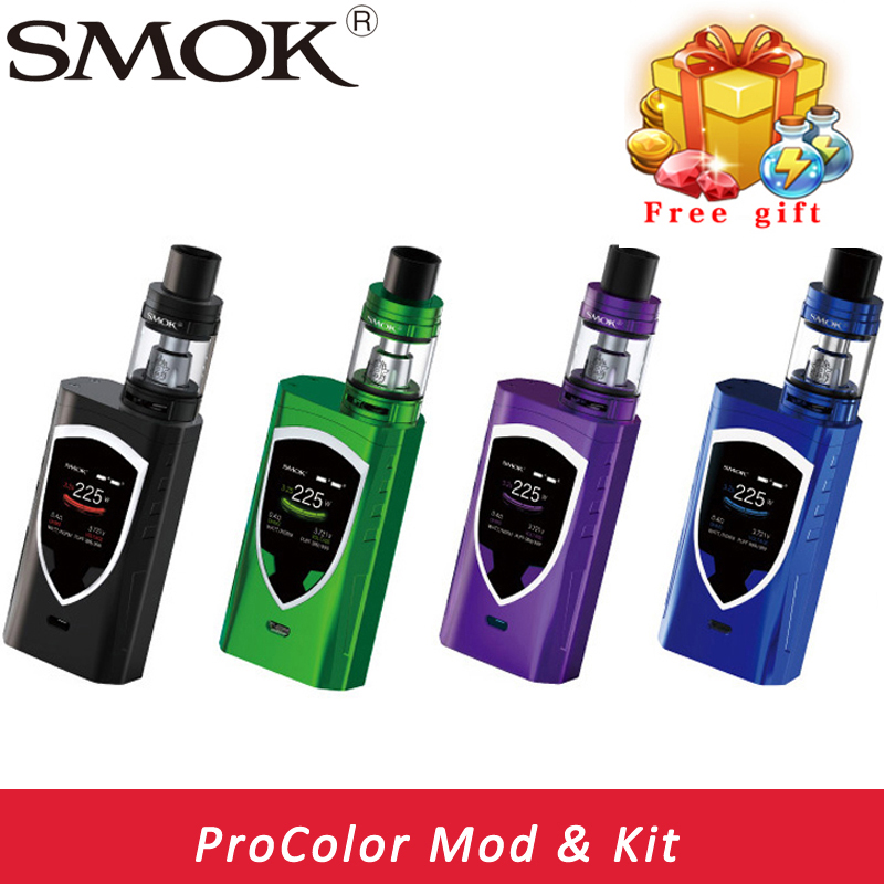 100% Original SMOK Alien ProColor kit Vape Vaporizer E Cigarette Box Mod 225W Mech Mod TFV8 Big Baby Tank vs alien kit in stock original smok vape pen 22 mod kit