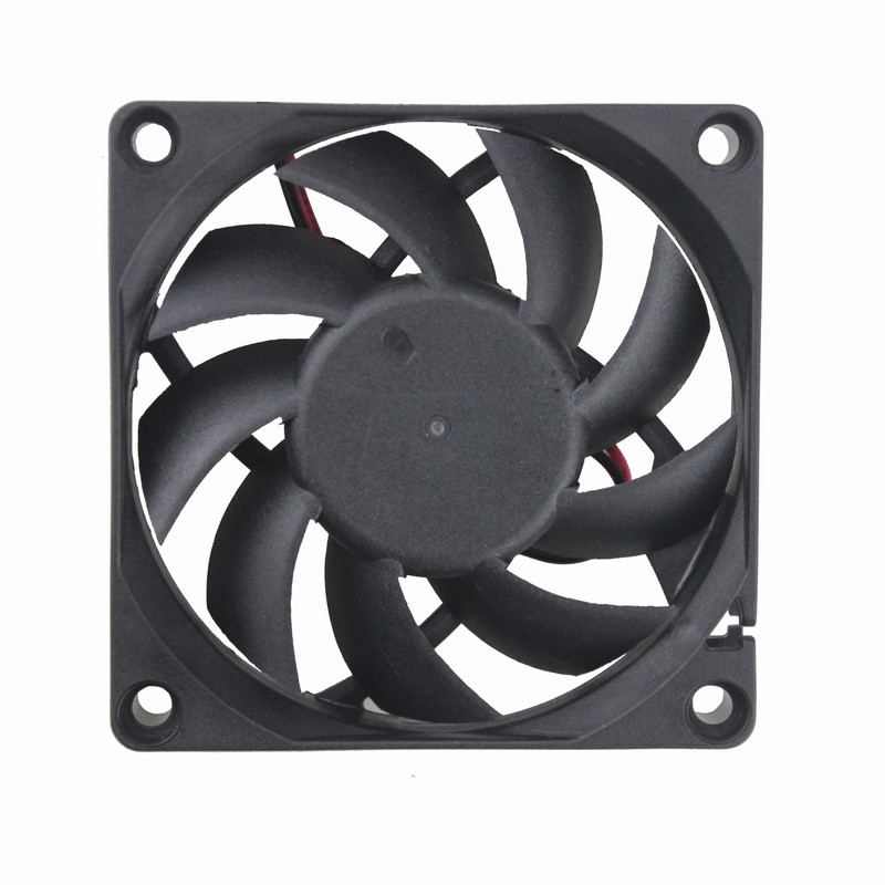 Gdstime 200 Pcs 2Pin 7cm 70mm X 15mm 7015 DC Brushless Cooling Fan 24V Black Computer Case PC CPU Cooler 70x70x15mm