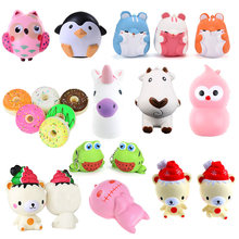 Hot Milk Box Squeeze Cake Bread Popcorn Ice Cream Hand Pillow Hamburger Hot Dog Cloud Squeeze Annimal Slow Rising Kids funny toy(China)