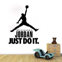Hot Sale Home DecorationHot Caved Michael Jordan NBA Basketall Player Wall Stickers Quotes Wall Decals SW-14  sc 1 st  AliExpress.com & Popular Jordan Wall Decal-Buy Cheap Jordan Wall Decal lots from ...
