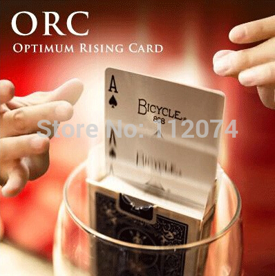 O.R.C.(Optimum Rising Card) Magic Tricks Magician Ultimate Ring Card Magie Close Up Illusion Gimmick Props Accessories horizontal card rise magic tricks stage card accessory gimmick props mentalism classic toys