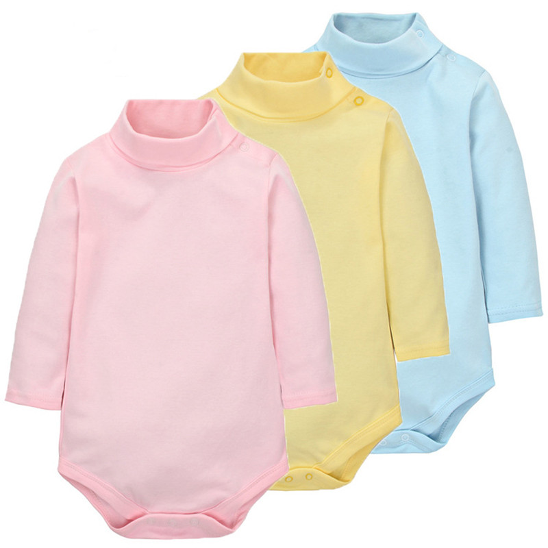 100 Cotton Baby Bodysuit Autumn Long Sleeved Solid