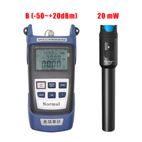 Handheld Optical Power Meter 50~+20dBm + 20mw 20km Fiber Optic Visual Fault Locator, Red Laser Tester OPM VFL Fibra optica tool