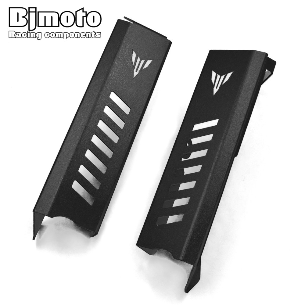 BJmoto New Motorcycle Aluminum MT-09 FZ-09 Radiator Grille Guard Protector Side Covers For Yamaha MT09 FZ09 2013 2014 2015 2016 for yamaha mt 09 fz 09 mt09 fz09 mt 09 fz 09 hot sale motorbike cnc motorcycle radiator side guard cover protector set