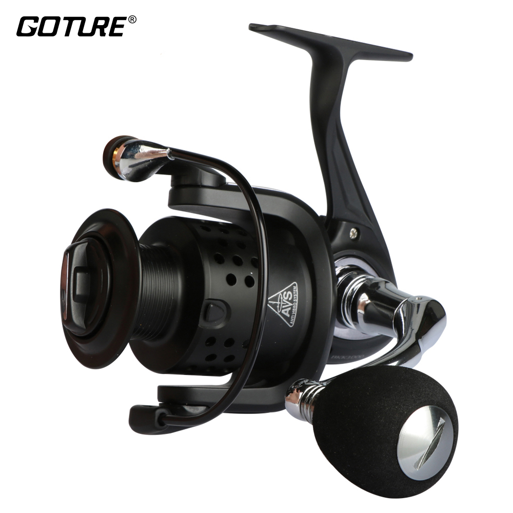 Goture Brand BKK Spinning Fishing Reel Size 500 1000 2000 3000 4000 5000 6000 Series Anti Vibro System Metal Wheel ryobi 1000 2000 3000 4000 spinning reel bait casting reel 7 bearings
