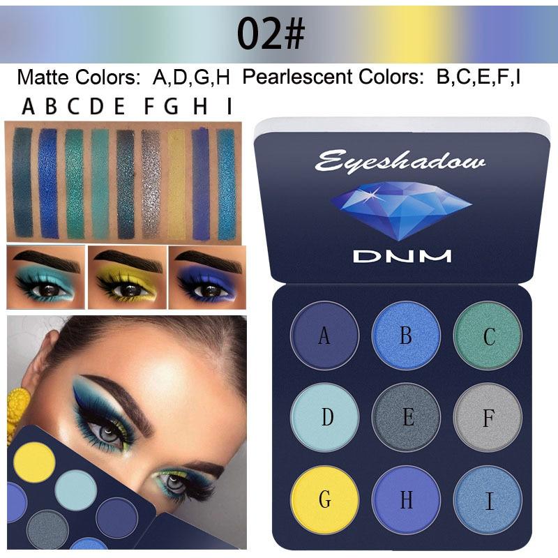 DNM Neue 1Pc Schimmer 9-farben Lidschatten-palette Matte schrittweise ändern Perlglanz lidschatten Anfänger Make-Up Kosmetik TSLM2